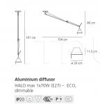Подвесной светильник Tolomeo sospensione decentrata Artemide