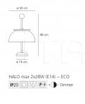 Настольный светильник Logico mini sospensione 4x90° Artemide