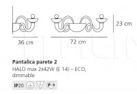 Настенный светильник Pantalica parete 2 Artemide