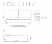 Кровать CORFU Bontempi Casa
