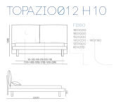 Кровать TOPAZIO Ø12 Bontempi Casa