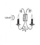Настенный светильник ANNIVERSARY 6880/A2 MM Lampadari
