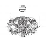 Потолочный светильник LUXURY 6806/P8+1 MM Lampadari