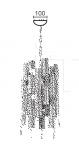 Подвесной светильник CITY 6680/4 MM Lampadari