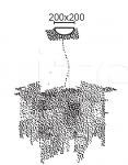 Подвесной светильник CITY 6580/6 MM Lampadari