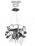 Подвесной светильник SPIRALE 6522/8+1 MM Lampadari
