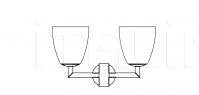 Настенный светильник 006/2 FontanaArte