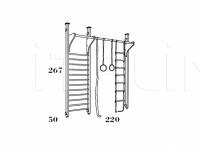 Гимнастическая стенка 719 Caroti