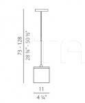 Подвесной светильник Kubik Panzeri