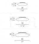 Потолочный светильник Delphina Panzeri