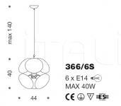 Подвесной светильник Moira 366/6S IDL Export