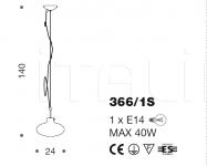 Подвесной светильник Moira 366/1S IDL Export