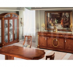Hand worked display cabinets Dining room  - IMPERO / Display cabinet with 3 doors