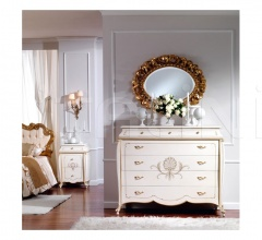 Classic style units with drawers Hotel  - OLIMPIA B / Ivory lacquered chest of drawers