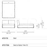 Кровать Altosoft Cappellini