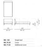 Кровать Bed Cappellini