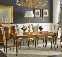 Luxury classic chairs, Art. 3500: Table, Extensible table