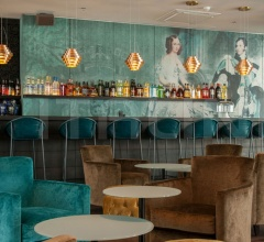 Итальянские рестораны/бары - Барный стул ASKIA фабрика Baxter