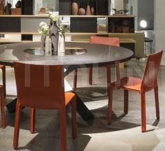 Итальянские столы обеденные - Круглый стол 456 PANTHEON фабрика Cassina