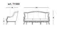 Трехместный диван Giunone 1569 S16RQ51 Tonin Casa