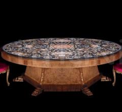 Стол обеденный W.005/ROUND TABLE MARBLE TOP фабрика Zanaboni