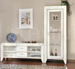 Alassio TV Stand - Alcamo Glass Cabinet