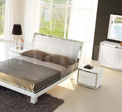 KUBE line - FUSION bed white ash/steel