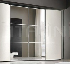 MAXI wardrobe, white ash-wood, tinted mirrors