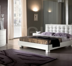 LUNA line white ash-wood _ DAMA bed _ Olimpo white mirror