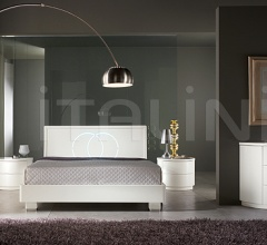 LUNA  line, white ash-wood _ FEDI bed