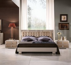 Elite line, taupe leather, light brown lacquer _ Linear,wardrobe, taupe leather, light brown lacquer