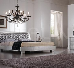 LUNA line, silver leaf, swarovski handle _ ELITE bed steel/silver leaf