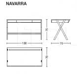 Письменный стол NAVARRA Riva 1920