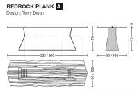 Стол обеденный BEDROCK PLANK Riva 1920