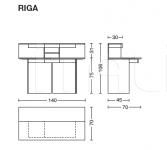 Компьютерный стол RIGA Riva 1920
