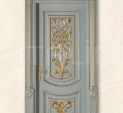 LUIGI XVI 4014/QQ/INT frame Luigi, casing with cyma LUIGI XVI type A, lacquered shaded blue with gold topcoat Classic Wood Interior Doors