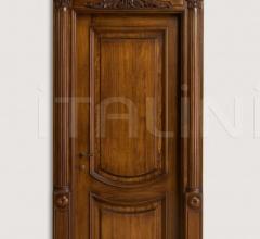 LUIGI XVI 4014/QQ  Italian walnut glossy Maggiolino inlay finish with wall panelling Classic Wood Interior Doors