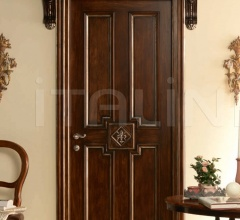 "HERMITAGE 6016/QQ/INT. Tulipwood antique dark silver walnut fin. with ""Fleur-de-lis"" carving Classic Wood Interior Doors"