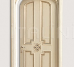 HERMITAGE 6016/TQR/SWA  Polished aged silver with Four-leaf clover carving with Swarovski inserts Classic Wood Interior Doors
