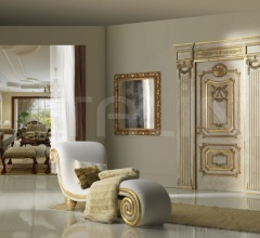"PALAZZO FARNESE 1022S/QQ/INT topcoat ""Antica Melodia Fiorentina"", casing with cyma Trianon Classic Wood Interior Doors"
