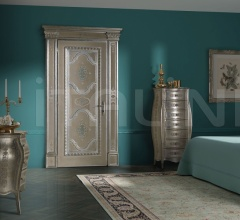 "PONTE VECCHIO 6018/QQ Casing with cyma ""Ponte Vecchio"" engraved on silver leaf  Classic Wood Interior Doors"