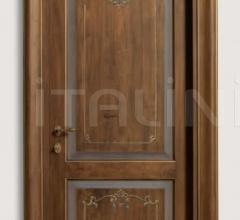 DONATELLO 1114/Q Antique-effect Trompe l'oeil coating Classic Wood Interior Doors