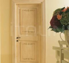 DUCALE 1112/Q Craquelure finish with Leaves decoration Classic Wood Interior Doors