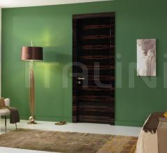 Giudetto Maxi 1011/QQ/H Gloss brushed Macassar ebony. Modern Interior Doors