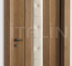 MONDRIAN 913/QQ/07 Natural Italian walnut leather inserts 07 Modern Interior Doors