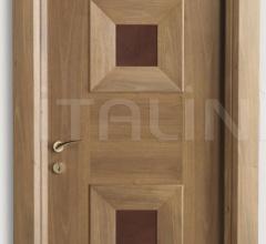 MONDRIAN 914/QQ/08 Italian walnut leather inserts 08 Modern Interior Doors