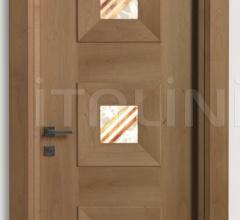 MONDRIAN 916/QQ/05 Natural Italian walnut alabaster inserts 05 Modern Interior Doors
