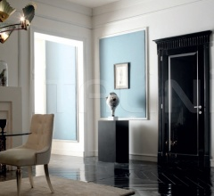 KORINTHOS 1393/QQ Glossy black 100 gloss lacquered casing with cyma korintos Modern Interior Doors