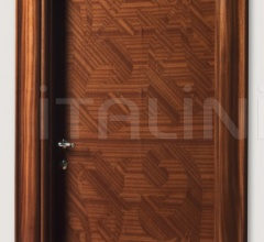 CENTRAL PARK 901/QQ Inlaid sliced veneer in coated mahogany, Cover moulding Klee Modern Interior Doors