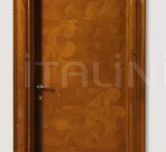 GORKY PARK 901/QQ  Inlaid sliced veneer in coated cherry, Cover moulding Klee Modern Interior Doors